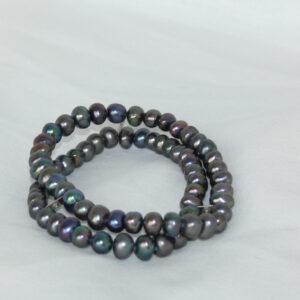 anthrazit, perlen, beads, kette, Geschenk, einreihig, Perlen, eleganter Schmuck, jewelerys, armband Perlenarmband .dunkles Armband