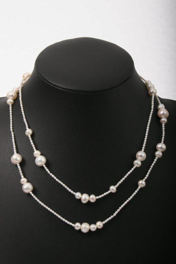 perlen, beads, kette, Geschenk, einreihig, Perlen, eleganter Schmuck, jewelerys, weiße Perlen, edler Schmuck, modern Jewels