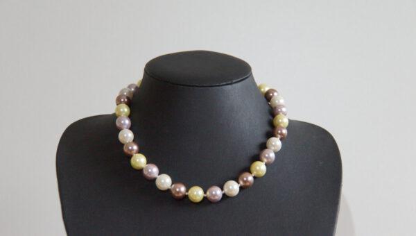 Perlenkette, Perle, längliche Perlen, Hell Weihnachtsgeschenk, Kette ,Schmuck, Muschelschalenkernkette